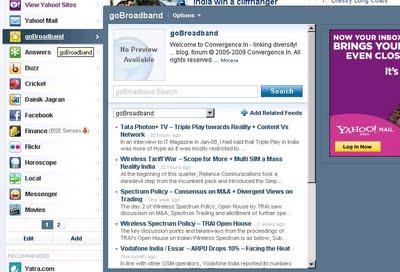 New Designed Yahoo Homepage